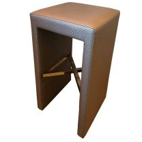 Designer High Stool with Chrome Fittings