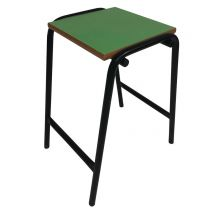 Laboratory Style Stool  with Green Seat