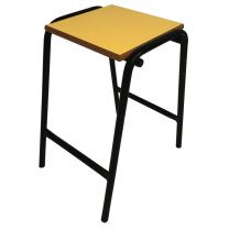 Laboratory Style Stool  with Yellow Seat