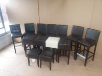 Joblot of 13 Used High and Low Bar Stools