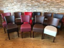 Joblot of 10 Used Restaurant Chairs. Some Minor Wear and Tear