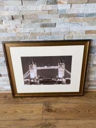 High Quality Gold Framed Print. Tower Bridge London