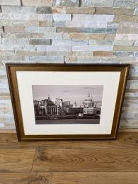 High Quality Gold Framed Print. St Pauls Cathedral London