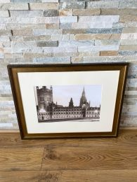 High Quality Gold Framed Print. Houses of Parliament London
