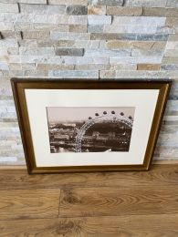 High Quality Gold Framed Print. London Eye