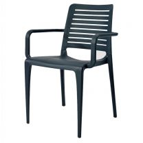Lisbon Stackable Outdoor Armchair - Anthracite