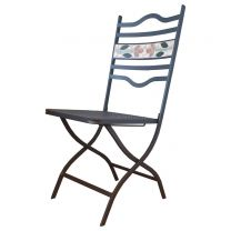 Clairemont Outdoor Folding Side Chair - Dark