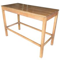 Ex Restaurant 6 Seater High Poseur Table in Light Wood