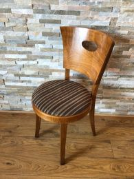 Ex Pub / Bar Chairs with Striped Upholstery
