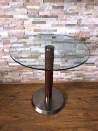 Pedrali Italian Designer Tempered Glass Table with 70cm Round Top