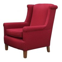 Used Red Single Seater Arm Chair