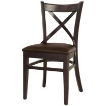 Royale Brown Faux Leather Restaurant Chairs