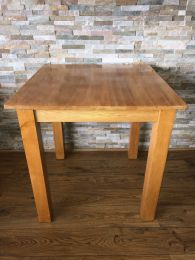 Ex Restaurant Dining Table in Solid Wood. Top Size 75cm x 75cm.