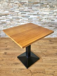 Ex Restaurant Table with Solid Wood Top and Pyramid Base. Top Size 70cm x 65cm
