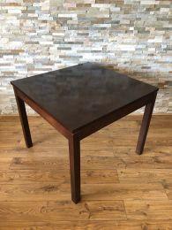 Ex Restaurant 80cm Square Dark Wood Table