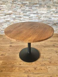 Ex Restaurant Table with Solid Wood Top and Pedestal Base. Top Size 100cm Round