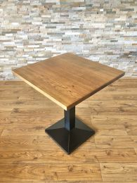 Ex Restaurant Table with Solid Wood Top and Pyramid Base. Top Size 70cm x 70cm