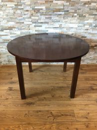 Ex Restaurant 120cm Round Dark Wood Table