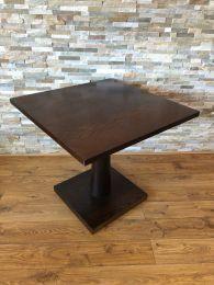 Ex Restaurant 80cm Square Dark Wood Pedestal Table