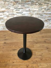 Ex Restaurant High Table with Solid Wood Top