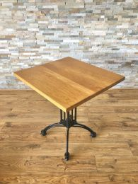 Ex Restaurant Table with Solid Wood Top and Continental Base. Top Size 70cm x 65cm