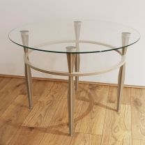 Ex Hotel Glass Topped Drinks Table