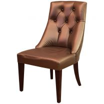 Ex Hotel Solid Wood Upholstered Side Chair