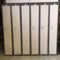 Used steel lockers