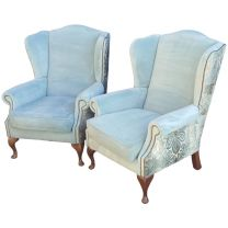 Luxury Pair of Wingback Armchairs
