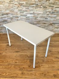 Ex-Showroom Tables with 120cm x 60cm White Laminate Tops.