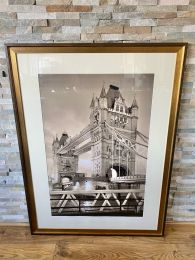 Ex-Hotel Very Large Picture 120cm x 90cm. Tower Bridge London