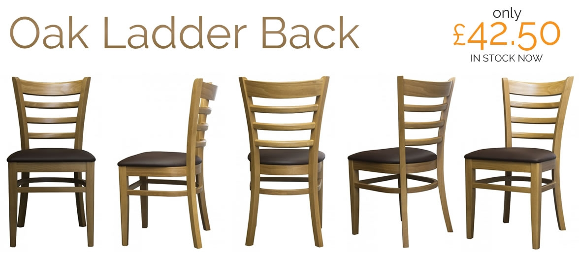 Belmont ladder back oak chairs