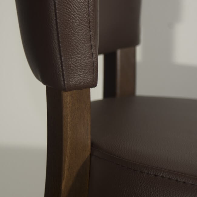 Brown belmont faux leather
